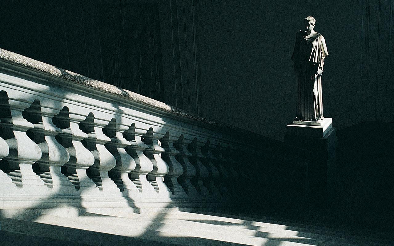 L'immagine mostra l'interno dell'Accademia delle Belle Arti