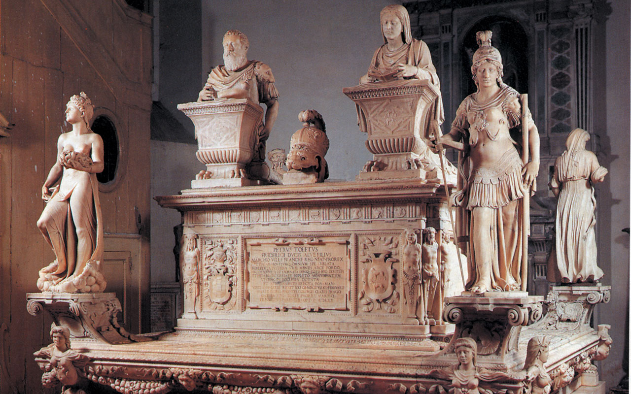 La chiesa di San Giacomo degli Spagnoli custodisce il Sepolcro del viceré Pedro de Toledo e di sua moglie Maria Ossorio Pimentel