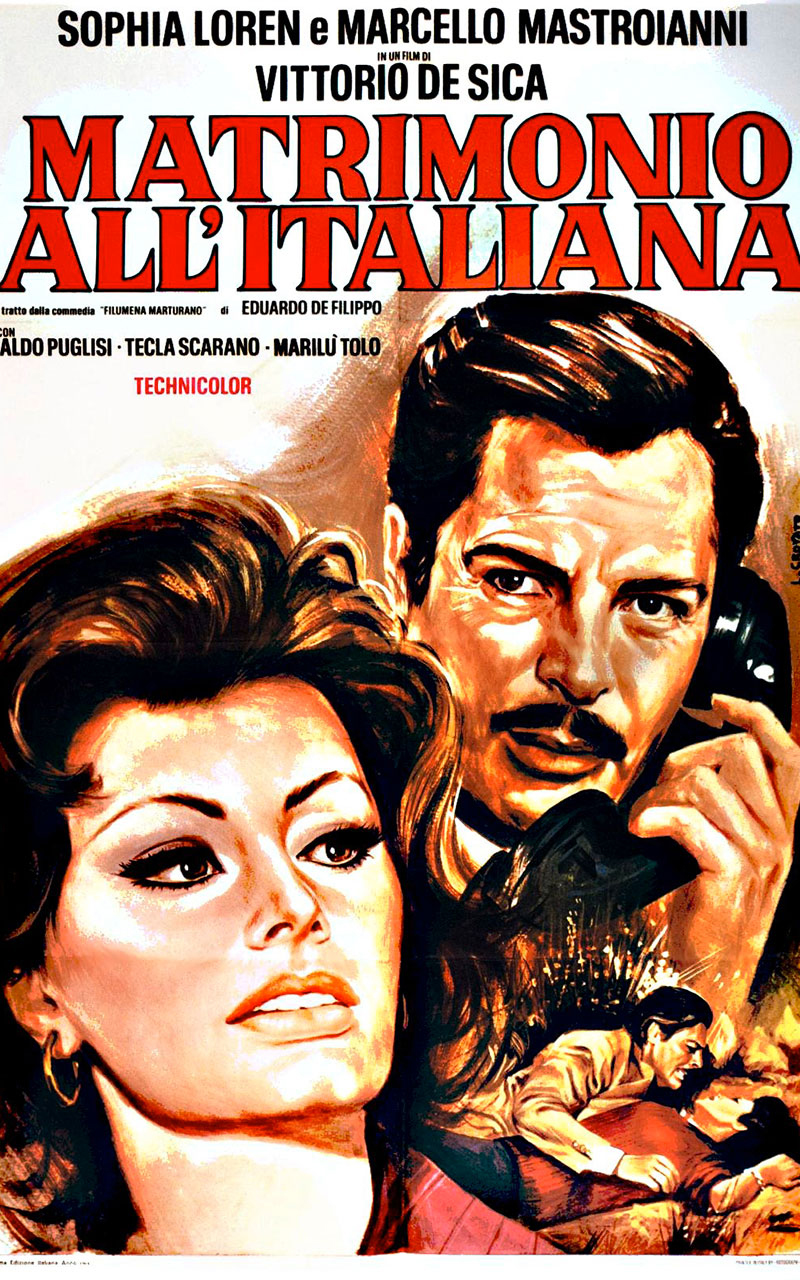 matrimonio all'italiana film diretto da Vittorio De Sica, ha come protagonisti Sofia Loren e Marcello Mastroianni