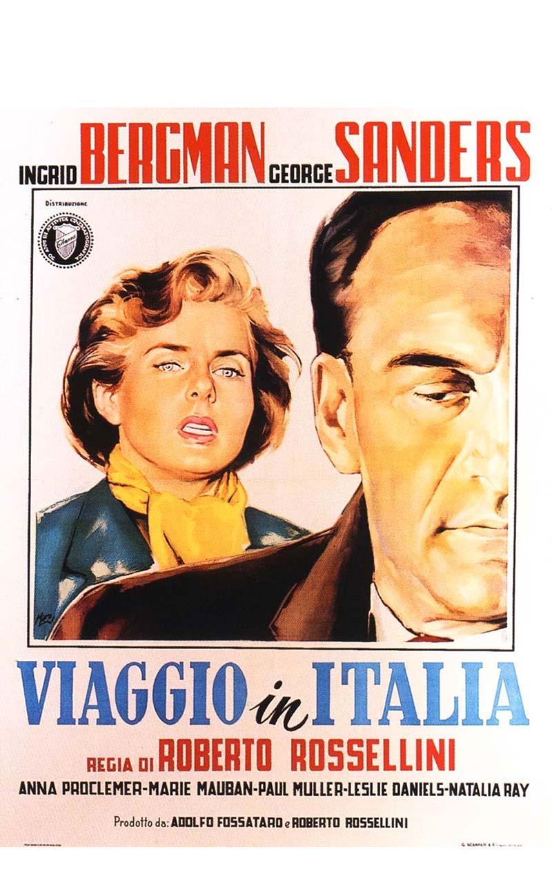 Viaggio in Italia è un film diretto da Roberto Rossellini con protagonisti Ingrid Bergman e George Sanders