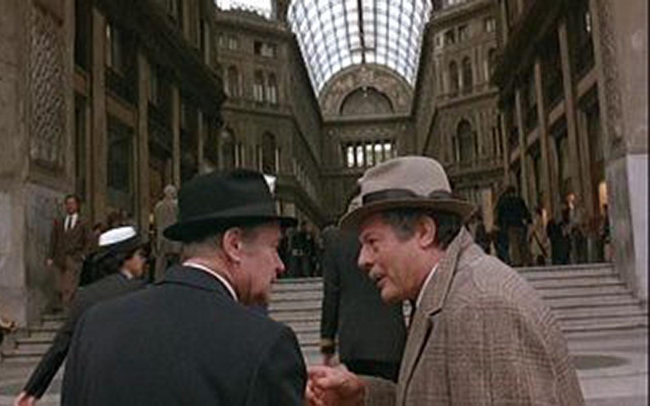 La Galleria Umberto I è la location di una scena del film Maccheroni con protagonisti Jack Lemmon e Marcello Mastroianni