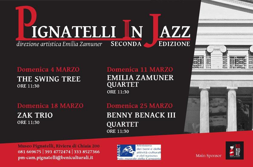 Domenica 11 marzo, alle ore 11.30, nella Veranda Neoclassica del Museo Pignatelli, nuovo appuntamento della rassegna Pignatelli in Jazz.