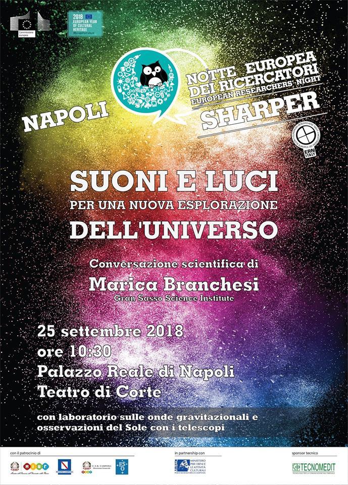 Al Palazzo Reale di Napoli conversazione scientifica con Marica Branchesi