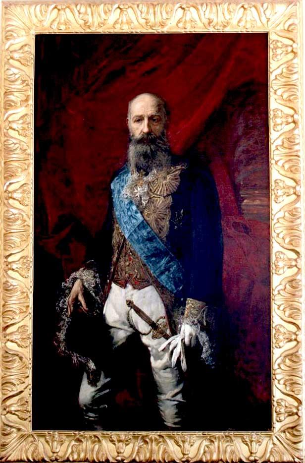 il ritratto di Placido De sangro illustrato dalla dotoressa ambrosio, direttore del Museo Duca di Martina