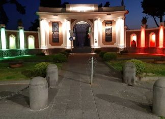 Il parco di Ercolano si illumina con il ricolore per dare forza in questo momento difficile