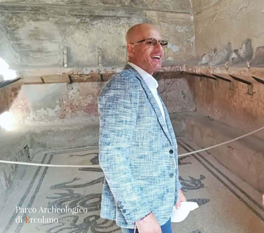 Il Dirrettore del Parco Archeologico di Ercolano. Il Dott. Sirano