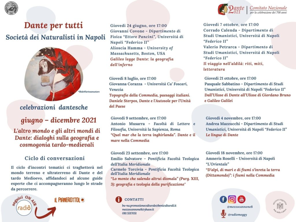 Anniversario Dantesco - Programma generale
